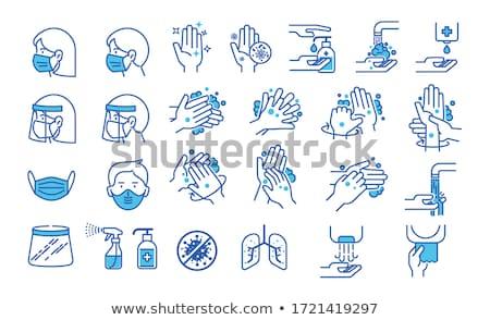 Bactérias fino linha ícone teia móvel Foto stock © RAStudio