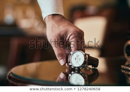 Foto stock: Handsome Man Getting Ready