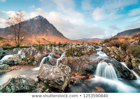 waterfall and highlands stock photo © tracer
