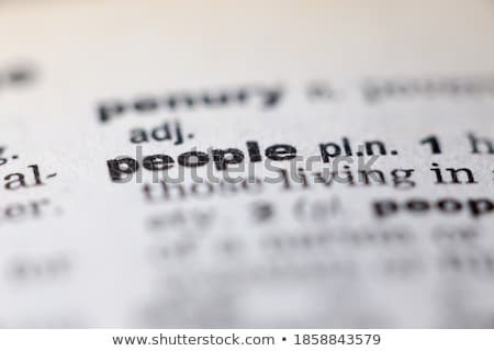 Ethnic Dictionary Definition Stock photo © chris2766