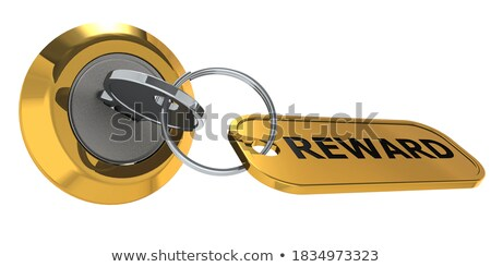 Honor - Bunch of Keys with Text on Golden Keychain. Stock photo © tashatuvango