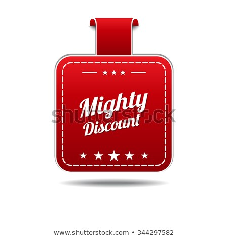 Mighty Deals Red Vector Icon Design Stock photo © rizwanali3d