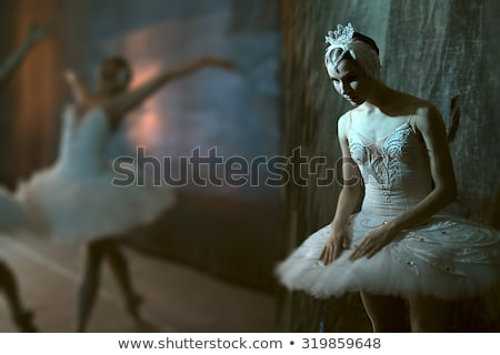 Stock fotó: Ballerina Standing Backstage Before Going On Stage
