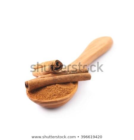 地上 シナモン 選択フォーカス 食品 表 ストックフォト © rojoimages