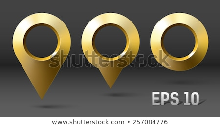 Point Sign Golden Vector Icon Button stock photo © rizwanali3d