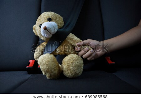 Young Woman Carring And Teddy Bear Stock photo © filipw
