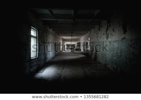 Opuszczony korytarzu długo tapety szpitala kompleks Zdjęcia stock © unkreatives