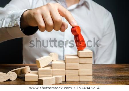kudarc · stratégia · üzlet · hanyatlás · kihívás · ceruza - stock fotó © lightsource