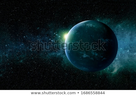 moon in outer space stock photo © iofoto