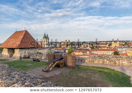 Ancient house in the city  Eger, Hungary Stock photo © Zhukow