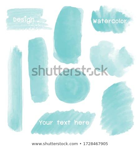 Beyaz çerçeve suluboya leke poster şablon Stok fotoğraf © maximmmmum