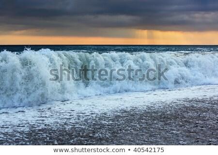 mar · movimento · longa · exposição · pier · cornualha · água - foto stock © paha_l