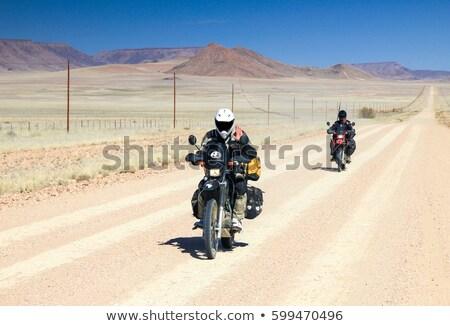 motocicleta · estrada · rural · painel · de · controle · estrada · natureza · bicicleta - foto stock © paha_l