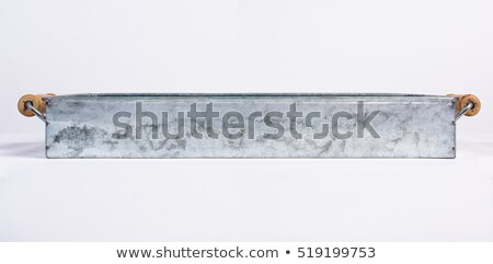 Rectangular wooden tray with brass handles Stock photo © ozgur