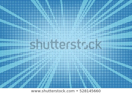 blue radial light effect gradient in halftone style Stock photo © Melvin07