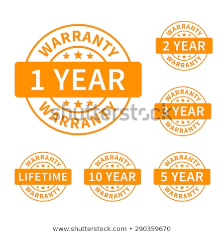 Rok gwarancja żółty wektora ikona projektu Zdjęcia stock © rizwanali3d