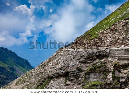 Rohtang La pass Traffic jam of cars Stock photo © cookelma