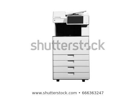 Escritório impressora isolado computador papel tecnologia Foto stock © shutswis