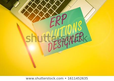 small business crm   concept on laptop screen stock photo © tashatuvango