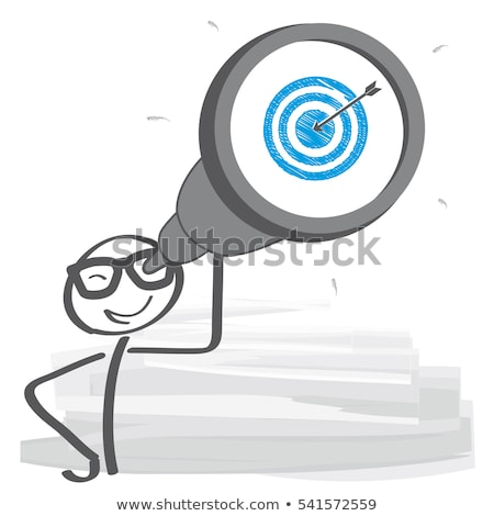 Stick figure to the target and finish Stock photo © Ustofre9