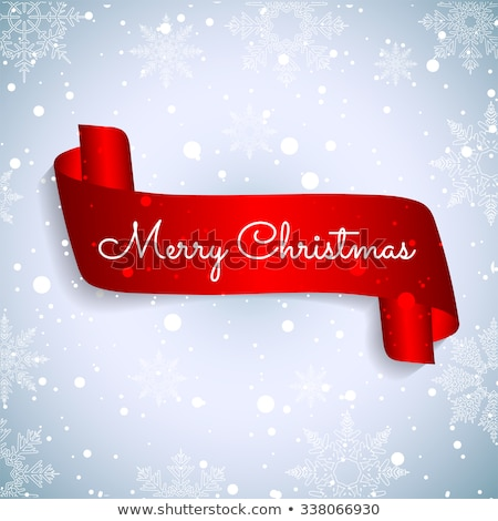 Christmas ribbon decoration. EPS 10 Stock photo © beholdereye