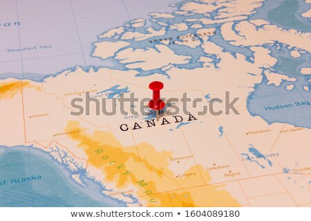 canada country on map stock photo © alex_grichenko