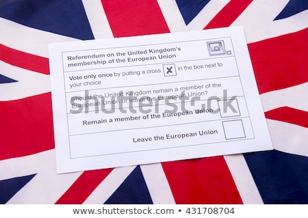 Ballot box with Europe and the UK Stock photo © Ustofre9