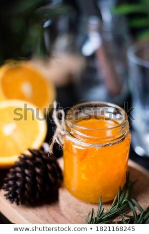 Narancsok konyhaasztal kész otthon levél háttér Stock fotó © hansgeel