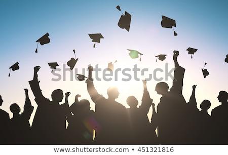 studenten · afstuderen · hoeden · groep · vergadering · klasse - stockfoto © zurijeta