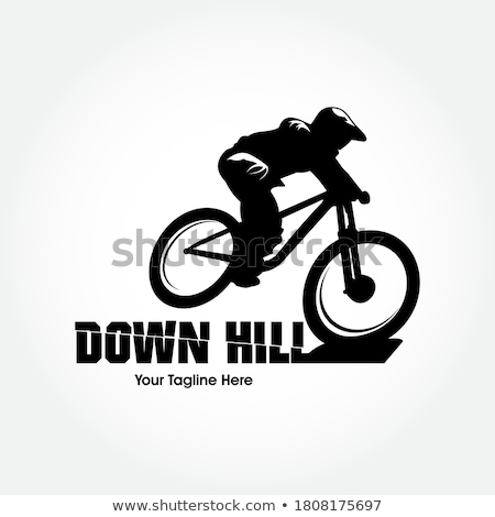 bicicleta · de · montana · silueta · listo · forestales · sol · deporte - foto stock © blasbike