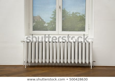 Thermal Image of Radiator Heater and a window on a building Stock photo © smuki