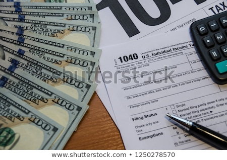 tax refund calculation stock photo © shawnhempel