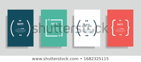 Vector Modern Minimalistic quote template Stock photo © orson