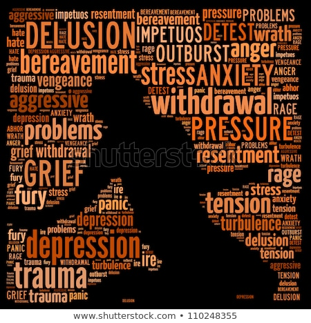 drug abuse word text Stock photo © mady70