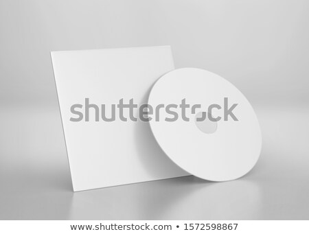 dysk · pusty · okładka · biały · realistyczny - zdjęcia stock © timurock