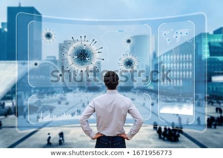 Betegség globális járvány munkás szín ruházat Stock fotó © zkruger