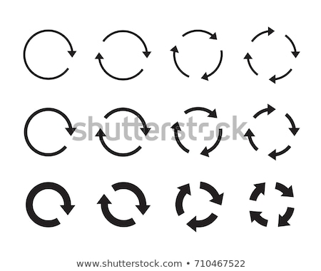 buttons with recycle arrows stock photo © bluering