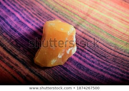 Кальцит фон рок каменные желтый кристалл Сток-фото © laciatek