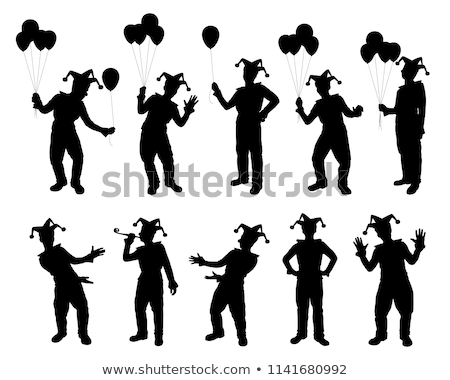 Clown Silhouette Stock photo © coolgraphic