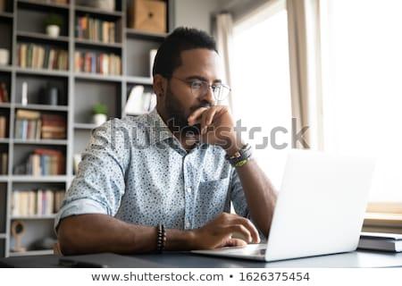 işadamı · sorunları · ofis · meşgul · oturma - stok fotoğraf © nyul