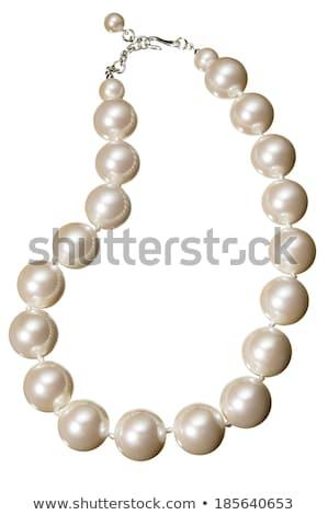 pérola · colar · isolado · branco · abstrato · fundo - foto stock © kayros