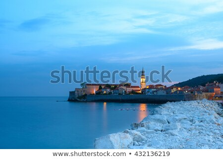 mistery evening in old town of budva montenegro balkans europe stock photo © maxpro