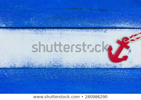 Praia âncora vazio ilustração fundo verão Foto stock © bluering