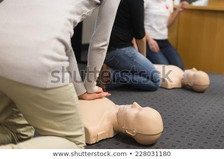 Stock fotó: Gyakorol · mesterséges · lélegeztetés · mellkas · részletek · egészség · gyógyszer