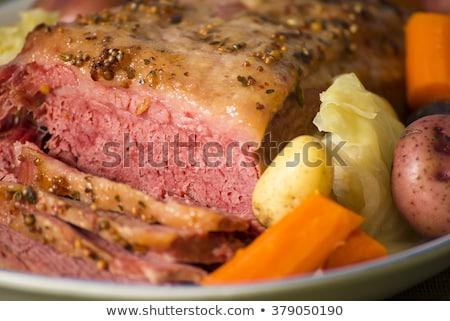 francia · gasztronómia · marhahús · sárgarépa · háttér - stock fotó © m-studio
