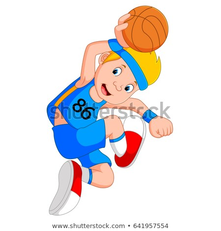 Basketball player bouncing the ball  Stock photo © bluering