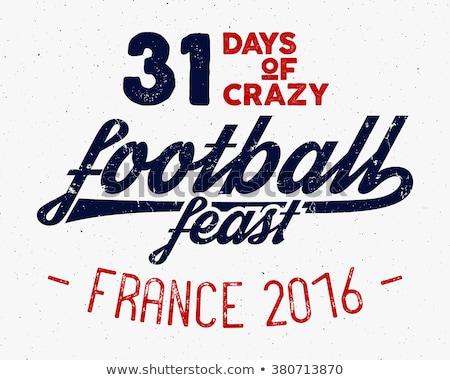 Franciaország · Európa · 2016 · futball · címke · futball - stock fotó © jeksongraphics