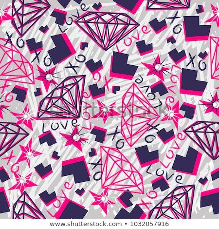 钻石黑白简笔画