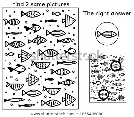 Different drawing of the same fish Stock photo © bluering