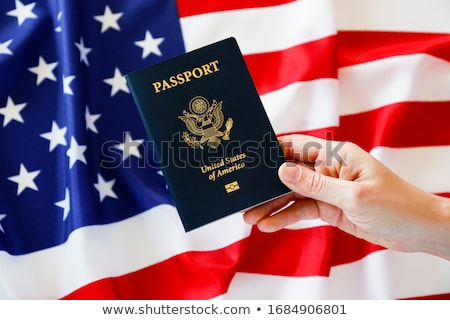 Foto stock: Close Up Of Hand With American Passport